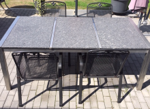 Gartentisch Steel Grey satiniert